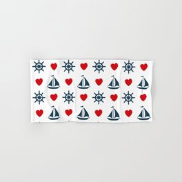 Nautical love Hand & Bath Towel