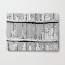 Gray Paint Chipped Fence Metal Print