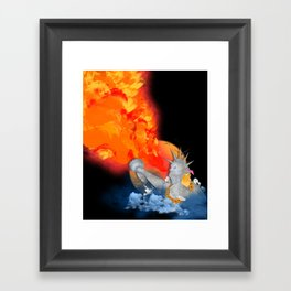 PARTY AT THE USA Framed Art Print