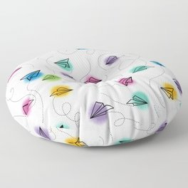 Paper Airplanes Floor Pillow