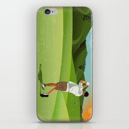 Mountain Golfer iPhone Skin