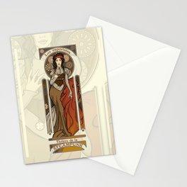 Steampunk Nouveau- Cream Stationery Cards