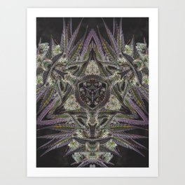 Purple Black Lime #2 Art Print