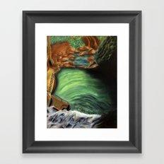 Over the falls Framed Art Print