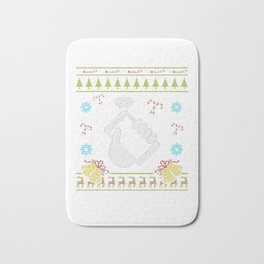 Phone Christmas Ugly Sweater Funny Cell Phone Mobile Phone Bath Mat