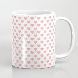 Large Blush Pink Lovehearts on White Coffee Mug
