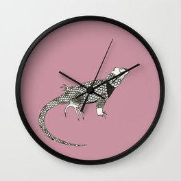 Black and White Lizard Wall Clock