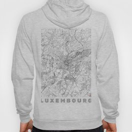 Luxembourg Map Line Hoody