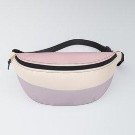 easter spring pastel color eggshell blue dusty rose blush pink stripe Fanny Pack