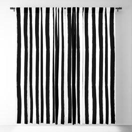 Black and White Cabana Stripes Palm Beach Preppy Blackout Curtain