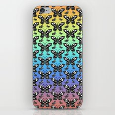 Butterfly pattern in color iPhone & iPod Skin