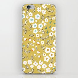 Ditsy Mustard iPhone Skin