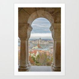 Fisherman's Bastion Budapest Hungary view Art Print