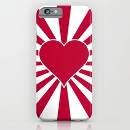 Japanese Valentine Heart Rising Heart of Japan iPhone Case