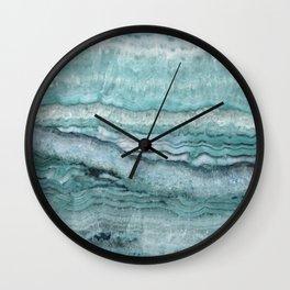 Mystic Stone Aqua Teal Wall Clock