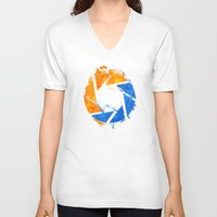 aperture V-neck T-shirts featuring Aperture Vandal by Toronto Sol
