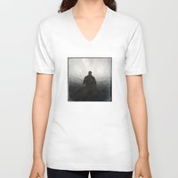 shadow V-neck T-shirts featuring Shadow by Dave Houldershaw