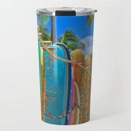 Hawaiian surfboards Travel Mug