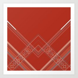 Burnt Sienna Stripe Design Art Print