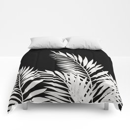 Palm Leaves White Comforters