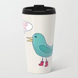Emotional Support Duck Metal Travel Mug