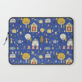 Wonderland Fairy Tale Blue Yellow Laptop Sleeve