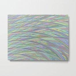 Pastel Rainbow Fractal Texture Metal Print