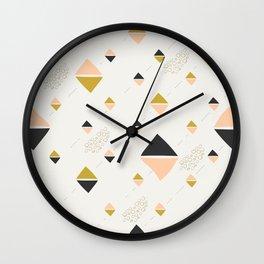 Abstract rhombuses Wall Clock