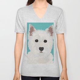 Westie Terrier Unisex V-Neck