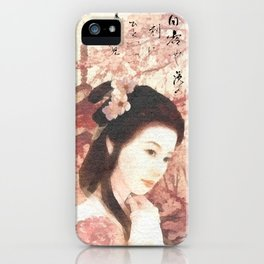 Asian Rose iPhone Case