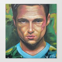 tyler durden Canvas Prints featuring FIGHT CLUB - TYLER DURDEN by John McGlynn