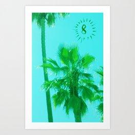palm tree number 8 Art Print