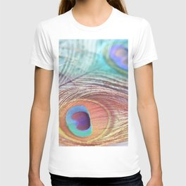 Pastel Boho Peacock T-shirt