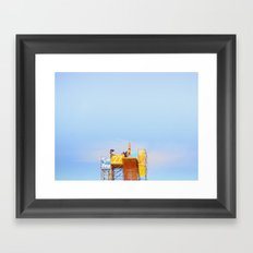 High Diving Framed Art Print