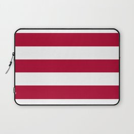 Alabama crimson - solid color - white stripes pattern Laptop Sleeve