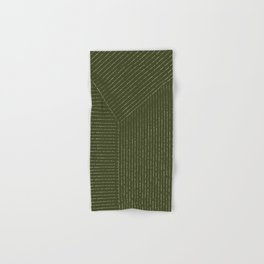 Lines (Olive Green) Hand & Bath Towel