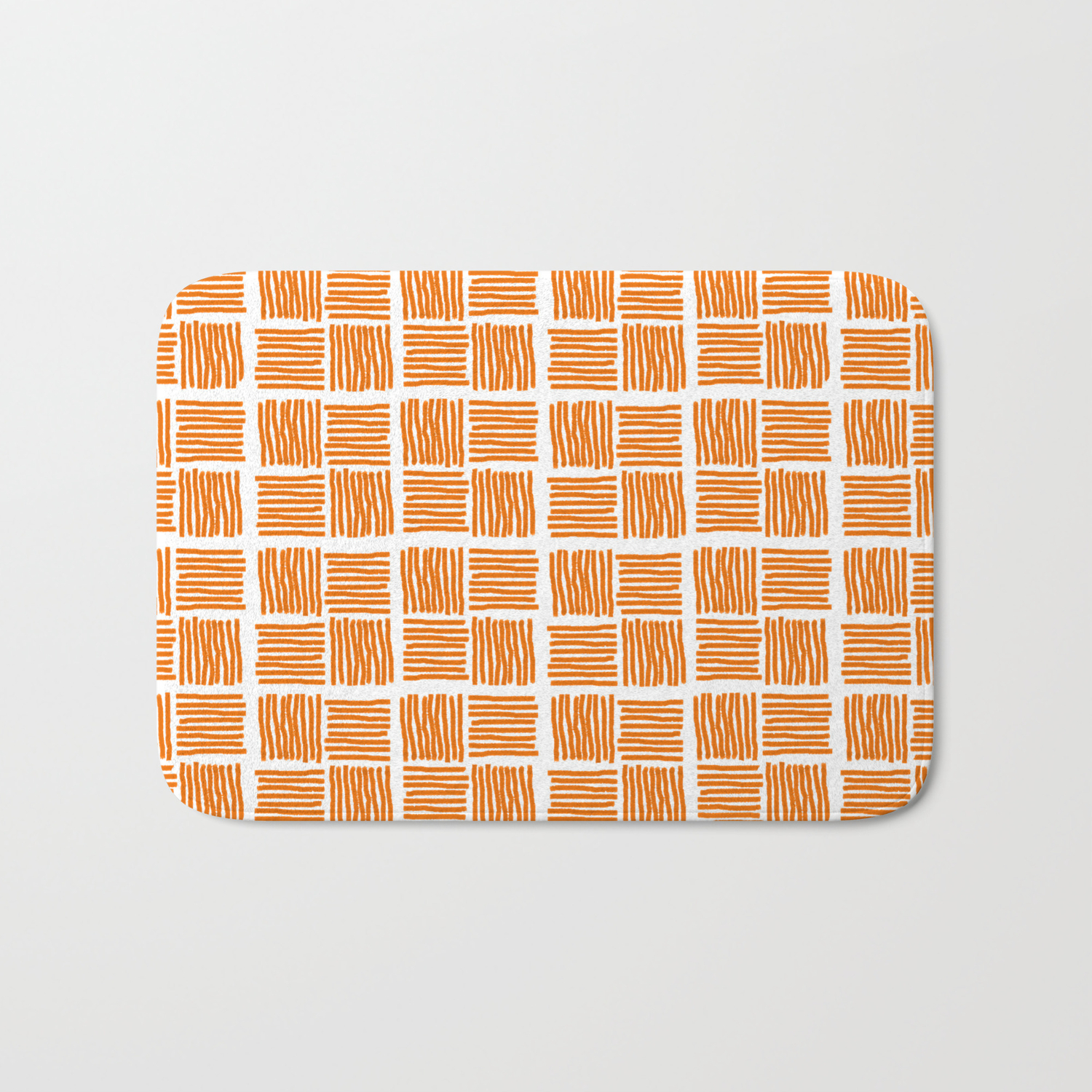 Burnt Orange Bath Mat By Anipani Society6