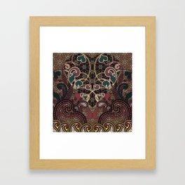 Flaming Hearts Framed Art Print