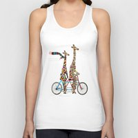 giraffe Tank Tops featuring giraffe days lets tandem by bri.buckley
