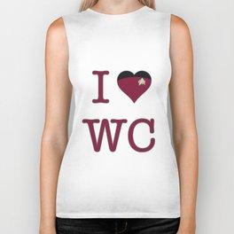 I Heart Wesley Crusher Biker Tank