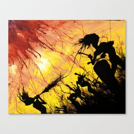 Splatter Dance - Psychedelic Party Canvas Print