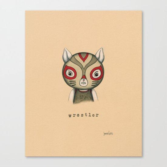 Cat Wrestler Canvas Print