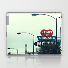 Heart 'O' Chicago Motel (Day) ~ vintage neon sign Laptop & iPad Skin