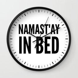 NAMAST'AY IN BED (Light) Wall Clock