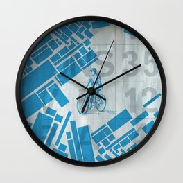 BlueBike Wall Clock