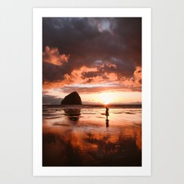Cape Kiwanda Sunset Art Print