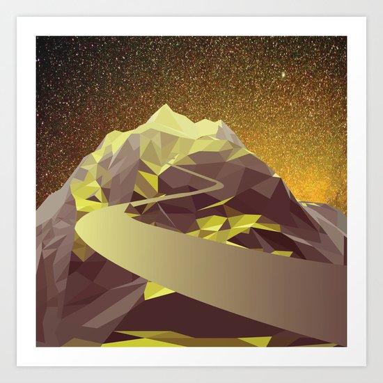 Night Mountains No. 9 Art Print
