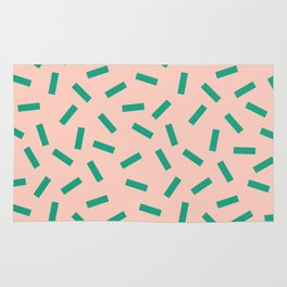Spring Macaroni Pattern Rug