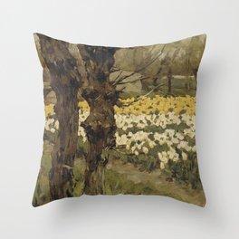 Tulip Fields - Anton L. Koster Throw Pillow