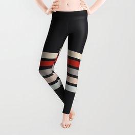 Midnight Retro Stripes Leggings